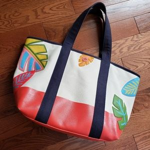 Tory Burch Bags - TORY BURCH large summer canvis tote